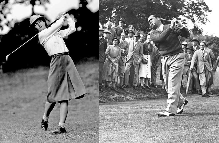Walter Hagen and Louise Suggs: Legendary Figures in Grand Slam History